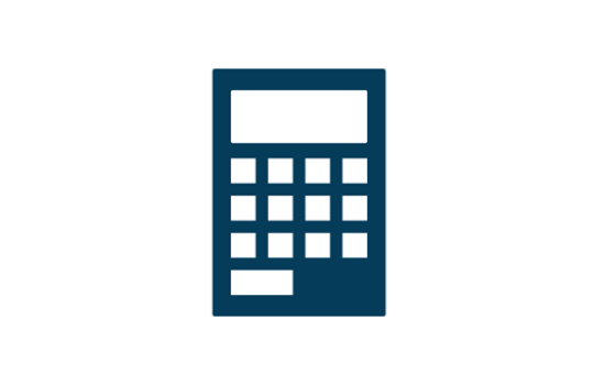A stylised image of a calculator.