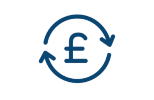 A pound symbol circled with arrows.