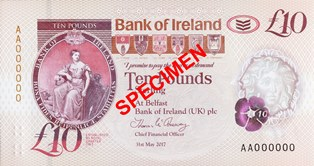 An example of the front of the new £10 polymer note